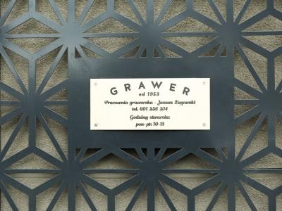 Engraver signboard