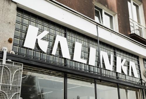 "store ""Kalinka"" signboard"