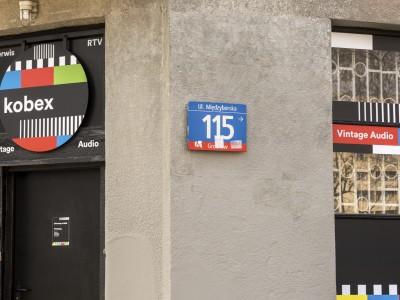 "Workshop ""Kobex"" signboard"